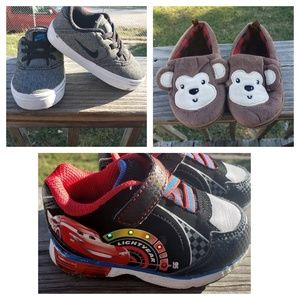 Toddler Nike Cars McQueen Sneaker Slip on Monkey 6
